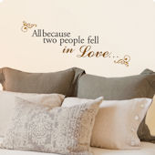 Lot 26 Studio Fell in Love Wall Decal