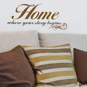 Lot 26 Studio Home Where Your Story Wall Decal