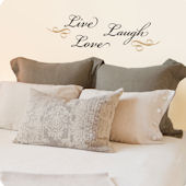 Lot 26 Studio Live Love Laugh Scroll Wall Decal
