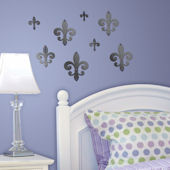Lot 26 Studio Mirrored Fleur De Lis Wall Decals