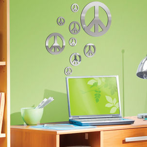 Lot 26 Studio Mirrored Peace Signs - Wall Sticker Outlet