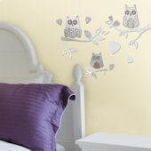 Lot 26 Studio Reflection Owls Branches Wall Decal