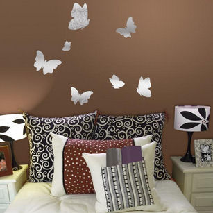Lot 26 Studio Reflection Patterned Butterflies  - Wall Sticker Outlet
