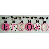 Brooke Circle Wooden Wall Letters