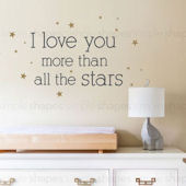 I Love You More Wall Decal Custom Colors