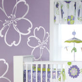 Glenna Jean LuLu White Flower Wall Stickers