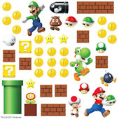 Super Mario Build a Scene Peel & Stick Wall Decals