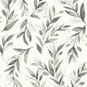 Magnolia Home Olive Branch Charcoal Wallpaper