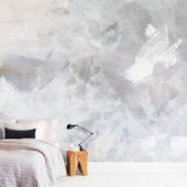 Minted Melody in White Repositionable Wall Mural