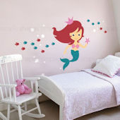 Custom Color Mermaid Under The Sea Wall Decal