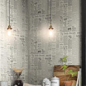Magnolia Home The Daily Grey Black Wallpaper