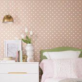 Magnolia Home Dots on Dots Pink Wallpaper