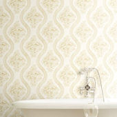 Magnolia Home Coverlet Floral Ivory Wallpaper