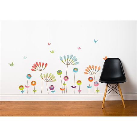 mia&co Chrysanthemums Transfer Wall Decals - Wall Sticker Outlet
