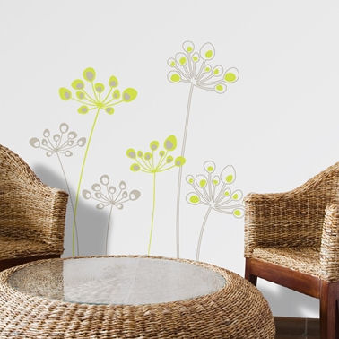 mia&co Astral Flowers Transfer Wall Decals - Wall Sticker Outlet
