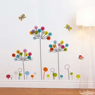 mia&co Buttercups Transfer Wall Decals - Wall Sticker Outlet