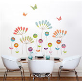 mia&co Colorful Pompoms Giant Transfer Wall Decals