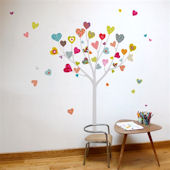 mia&co Heart Tree Giant Transfer Wall Decals