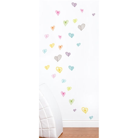 mia&co Light Hearts Wall Decals - Wall Sticker Outlet