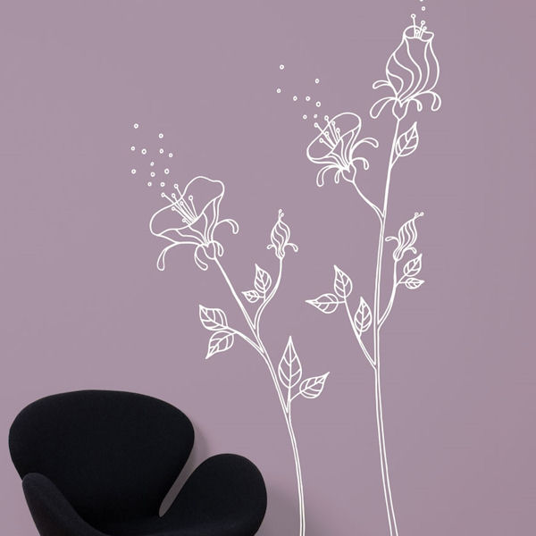 mia&co Pollen Giant Transfer Wall Decals - White - Wall Sticker Outlet