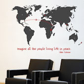 mia&co World Map Giant Transfer Wall Decals