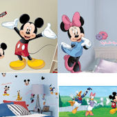 Mickey and Minnie Decal Room Package