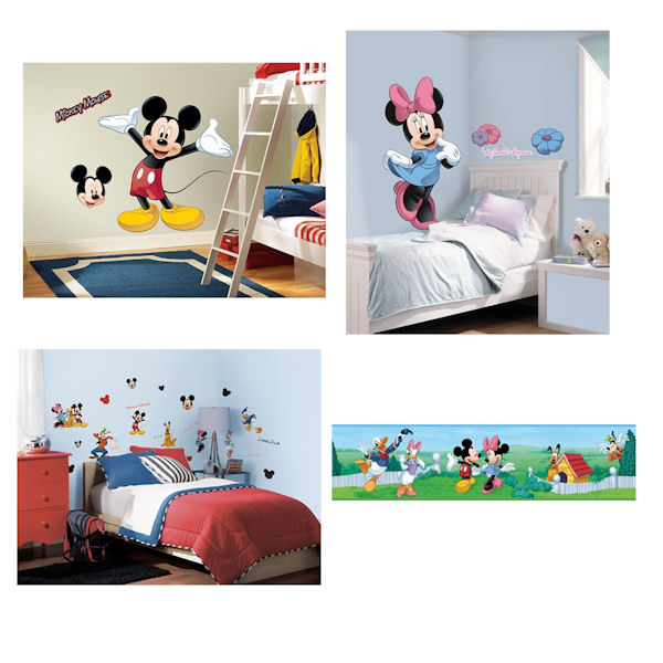 Mickey and Minnie Decal Room Package - Wall Sticker Outlet