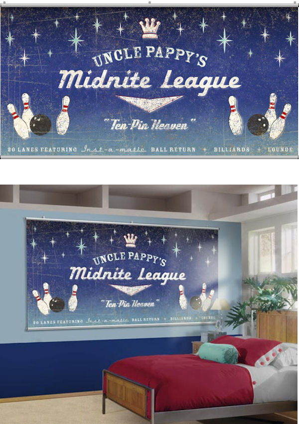 Midnite League Minute Mural - Wall Sticker Outlet