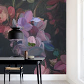Minted Midnight Petals Repositionable Wall Mural