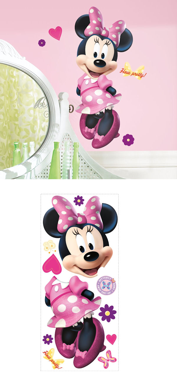 Minnie Mouse Bow Tique Giant Wall Decal Part 86