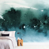 Minted Misty Forest Repositionable Wall Mural
