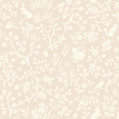 Magnolia Home Fox and Hare Pink Wallpaper