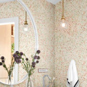 Magnolia Home Meadow Pink Wallpaper