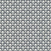 Magnolia Home Stacked Scallops Grey Blue Wallpaper