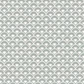 Magnolia Home Stacked Scallops Grey Wallpaper