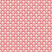 Magnolia Home Stacked Scallops Pink Wallpaper