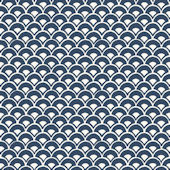 Magnolia Home Stacked Scallops Blue Wallpaper