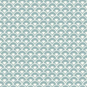 Magnolia Home Stacked Scallops Soft Blue Wallpaper