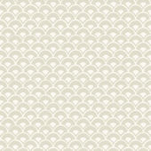 Magnolia Home Stacked Scallops Beige Wallpaper