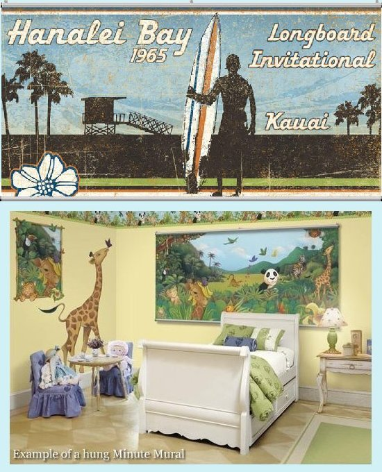 Hanalei bay wall minute mural kids wall decor store for Bay view wall mural
