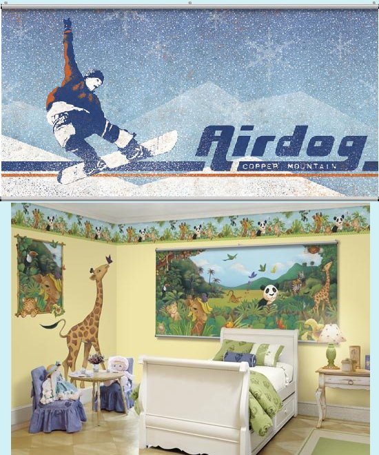 Airdog Blue Minute Mural - Kids Wall Decor Store