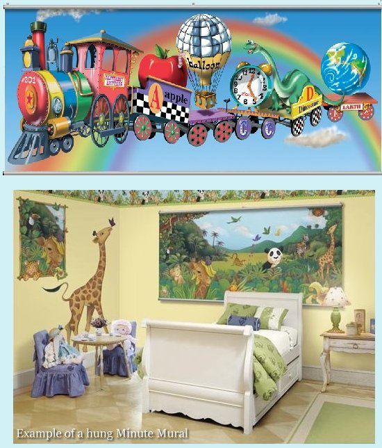 Alphabet Train Minute Mural - Kids Wall Decor Store