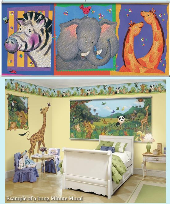Animal Apartment Minute Mural - Kids Wall Decor Store