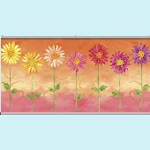 Daisies Orange Minute Mural
