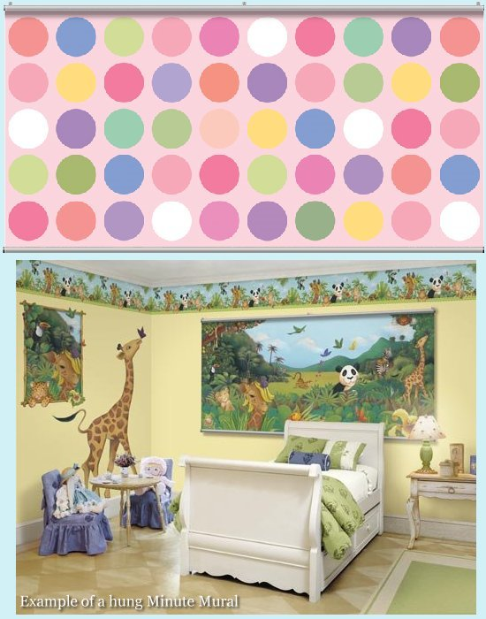 Big Dot Pink Minute Mural - Kids Wall Decor Store
