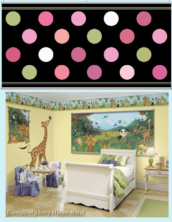 Big Dot Black and Pastel Minute Mural - Kids Wall Decor Store
