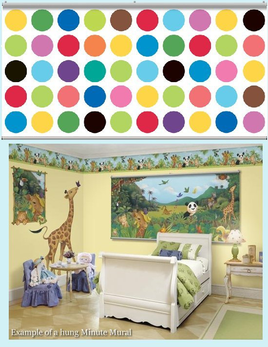 Big Dot Bright White Minute Mural - Kids Wall Decor Store