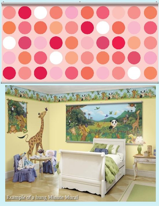 Big dot cotton candy dark minute mural kids wall decor store for Candy wall mural