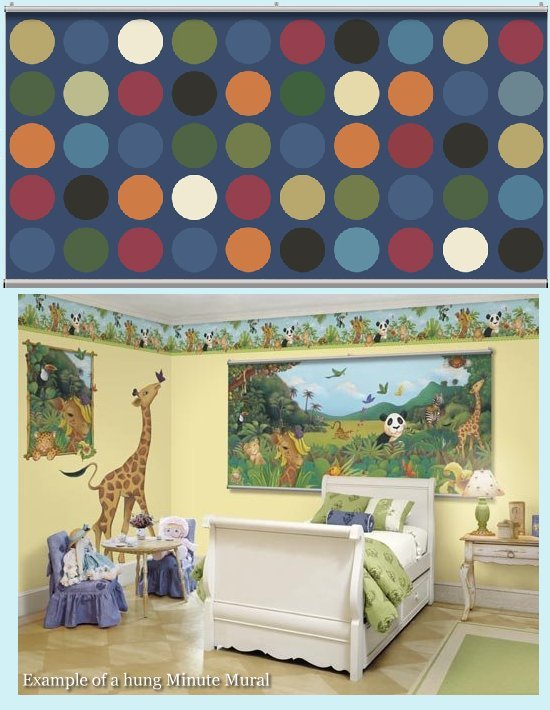 Big Dot Dark Green Minute Mural - Kids Wall Decor Store