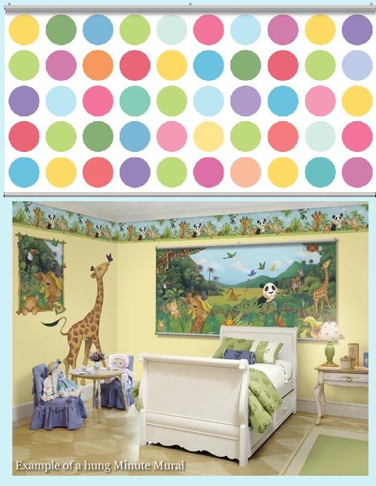 Big Dot Multi Minute Mural - Kids Wall Decor Store